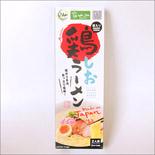 鶏ラーメン塩味(お土産用・お箸入り・2食入)30個入ケース|Halal Chicken Salt Ramen with Chopsticks 2servings×30pack